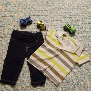 Causal and cute boys Carter's 9 month outfit